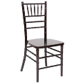 Rental store for MAHOGANY CHIAVARI RESIN CHAIR in Greensboro NC